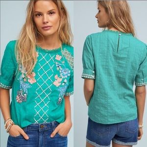 Anthropologie Maeve Perennial Blouse Size 4